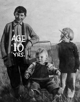 Ο Gordon σε ηλικία 10 ετών
