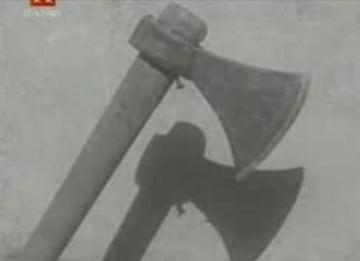 Το τσεκούρι, στο Εγκληματολογικό Μουσείο της Ρώμης