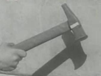 Το σφυρί, στο Εγκληματολογικό Μουσείο της Ρώμης