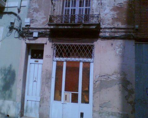 Το σπίτι της οδού Ponent στη δεκαετία του '80. Ο δρόμος έχει μετονομαστεί σε οδό Joaquim Costa.