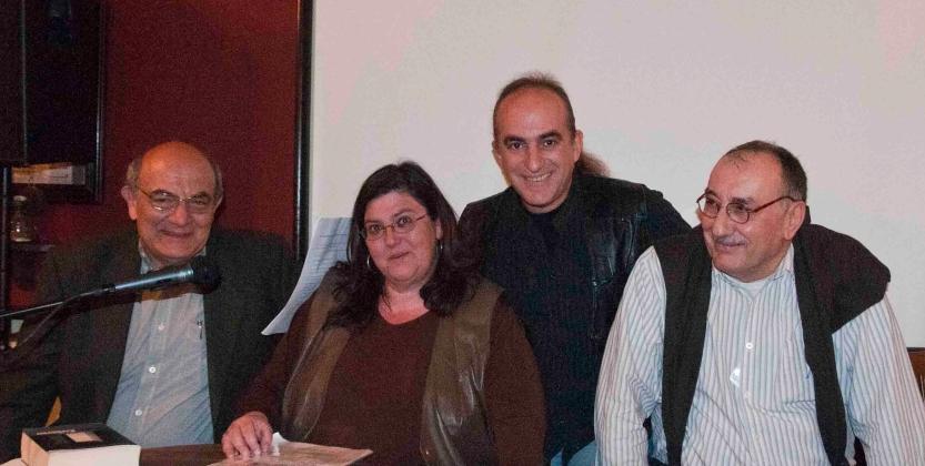 Με τους Αντώνη Γκόλτσο, Δημήτρη Ντουμπουρίδη και Κρίτωνα Σαλπιγκτή