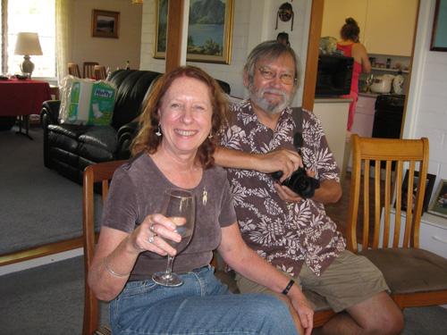 Με τον σύζυγό της Ian