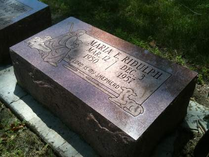 Maria Ridulph at Elmwood Cemetery in Sycamore