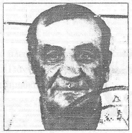 Ο Θ. Μουστόπουλος, ένα από τα τρία θύματα των δηλητηριασμένων τηγανόψωμων.