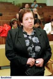Η Μ. Σαμπανιώτη, κατά τη διάρκεια της δίκης της στο Κακουργιοδικείου Αθήνας.
