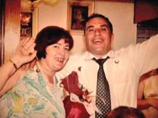 O Taneski με την πρώην σύζυγό του