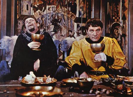 Ερρίκος (Π. Ο'Τουλ) και Μπέκετ (Ρ. Μπέρτον), από το φιλμ του Π. Γκλένβιλλ (1964)