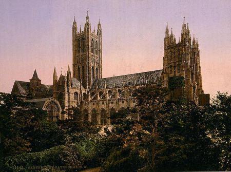 Ο καθεδρικός της Καντερβουρίας (φωτογραφία του τέλους του 19ου αιώνα)