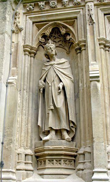 Άγαλμα του Ερρίκου Β΄ στον καθεδρικό του Κάντερμπρυ
