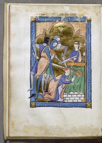 """""""Το Μαρτύριο του Αγίου Θωμά Μπέκετ"""", Αγγλία, περ. 1250 (Walters Art Gallery, Βαλτιμόρη)"""