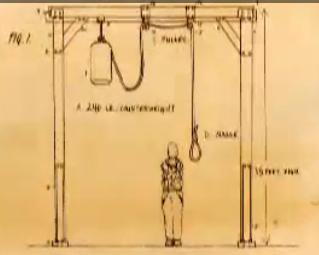 Διάγραμμα της αγχόνης όπου εκτελέστηκε ο LeBlanc.