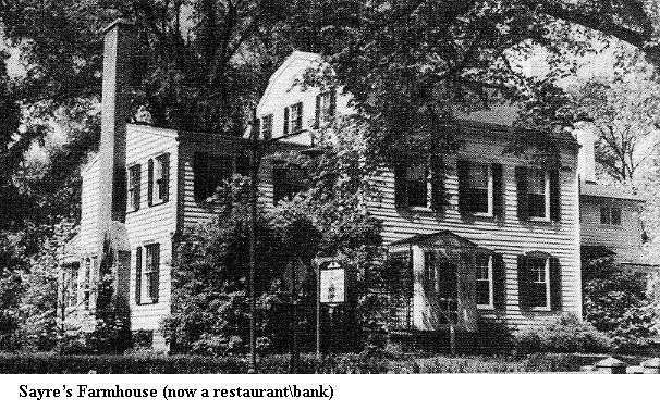 Το σπίτι των Sayre, μετέπειτα εστιατόριο και σήμερα κατάστημα τράπεζας, στον αρ. 217 της South Street, στην Morristown του New Jersey.