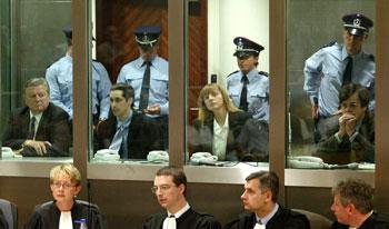 Οι τέσσερις κατηγορούμενοι στη δίκη