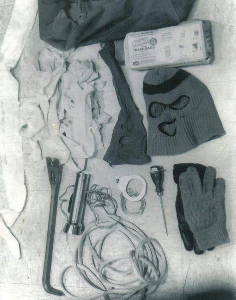 Items taken from Bundy's Volkswagen, August 16, 1975