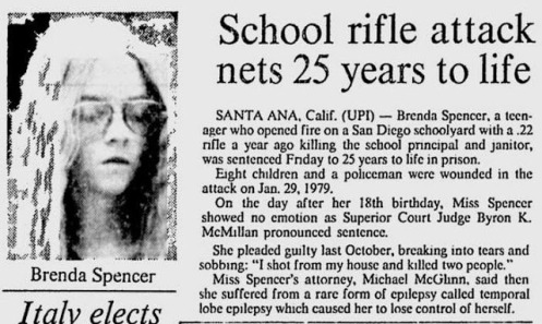 April 5, 1980, Edmonton Journal, School Rille Attack Lets 25 Years To Life,