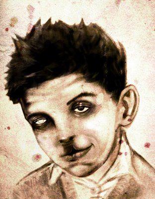 Σκίτσο που απεικονίζει τον Jesse χτυπημένο από τον πατέρα του