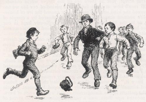 Παιδιά παίζουν μπάλα, μέσα 19ου αιώνα