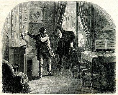 """Εικονογράφηση από το """"Κλεμμένο Γράμμα"""" (""""The Purloined letter"""") του E. A. Poe"""