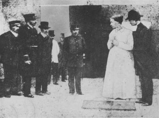 Anna Mansdotter, λίγο πριν την εκτέλεση