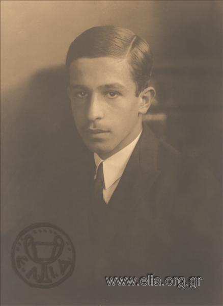Ο Λάμπρος Ευταξίας, το 1920 στις Κάννες. Φωτογραφία από Ε.Λ.Ι.Α.