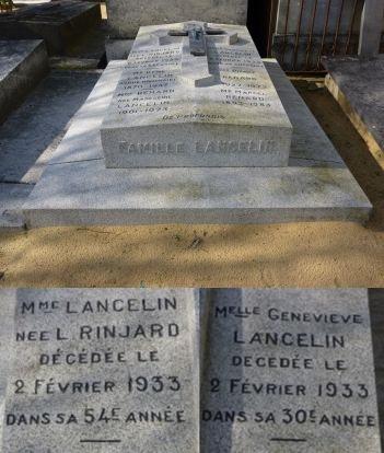 Ο οικογενειακός τάφος των lancelin, στο κοιμητήριο του Mans