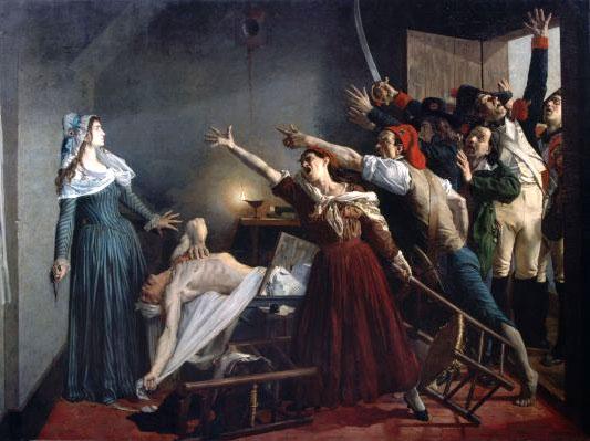 Ζαν Ζοζέφ Βεερτς, Η Δολοφονία του Μαρά, 1880
