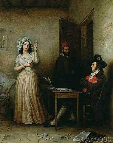 Μ.Φ Τόμας, Η Σαρλότ Κορντέ ανακρίνεται στο κελί της, 1836