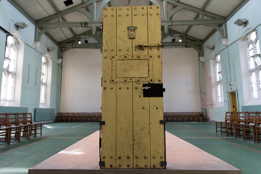 H πόρτα του κελιού του Wilde