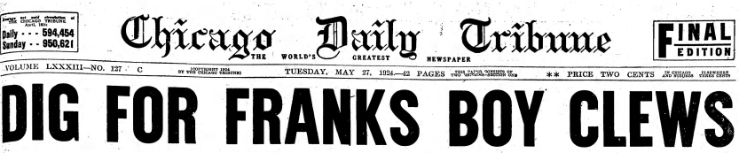 chicagotribuneheadline27may1924loeb