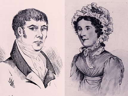 2. Illustrations of William Corder (left) and Maria Marten (right)